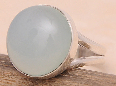 Chalcedony .925 Sterling Silver Jewelry Ring Size 6