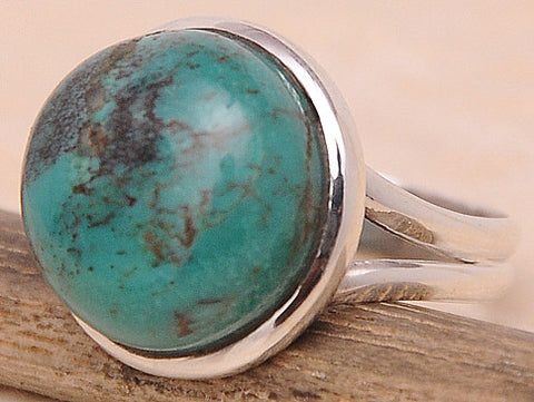 Turquoise .925 Sterling Silver Jewelry Ring Size 7