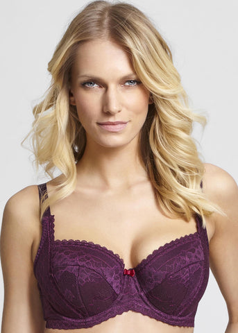 Model in Panache Petra Balconnette BH Plum