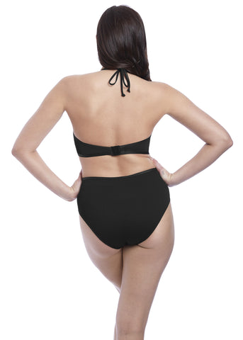 Model in Freya Nouveau High Waisted Bikini Broekje Zwart