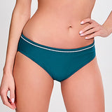 Anya Bikini Brief lagoon/wit
