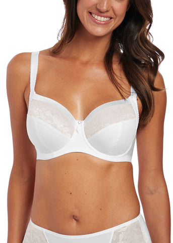 Model in Fantasie Illusion Full Cup BH Wit voorzijde