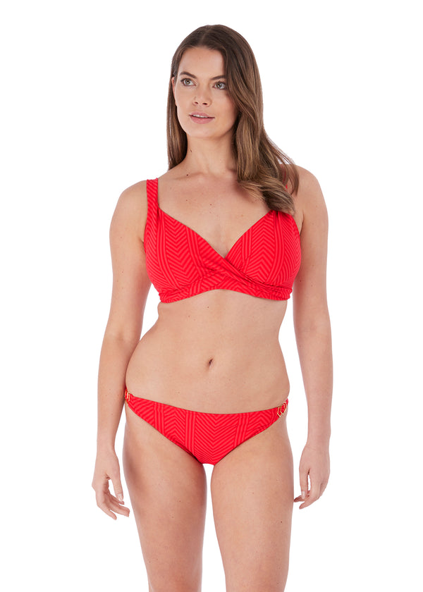 Model in Fantasie Long Island bikini Lollipop voorzijde