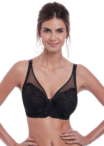 Model in Fantasie Anoushka full cup bh zwart