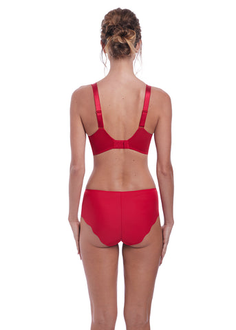 Model in Fantasie Anoushka full cup bh rood