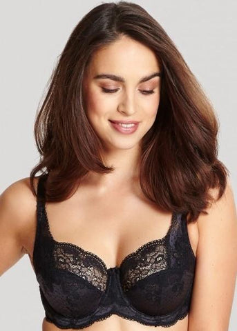 Model in Panache Clara Full Cup BH Charcoal Black