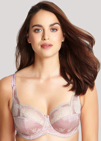 Model in Panache Clara Full Cup BH Pink Champagne