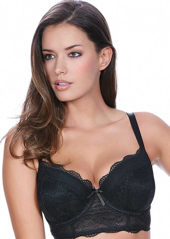 Model in Freya Fancies Longline BH Zwart