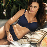 Model in Fantasie Marseille Bikini Top Twilight