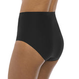 Model in Fantasie Smoothease High Waisted Broekje Zwart Zijkant