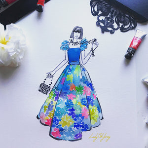 Floral Painted Dress