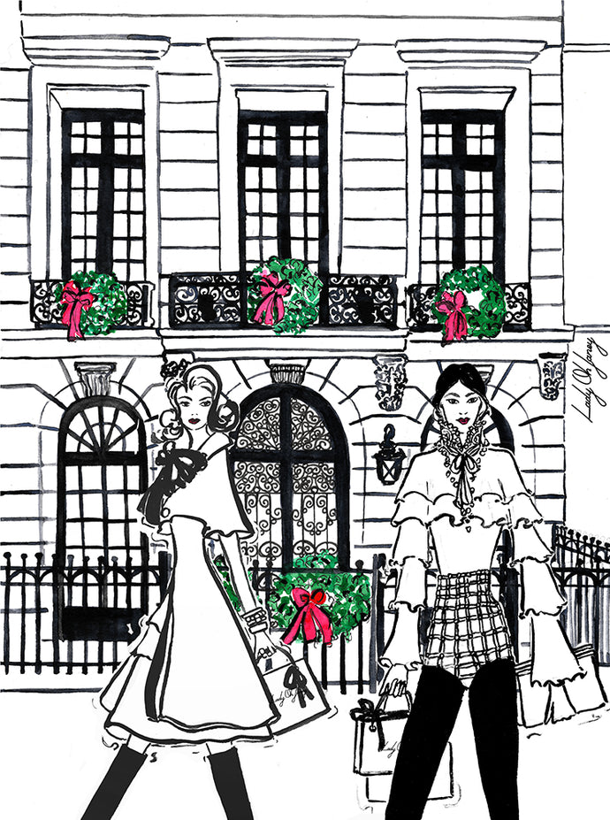 Holiday in Paris Fashion Illustration