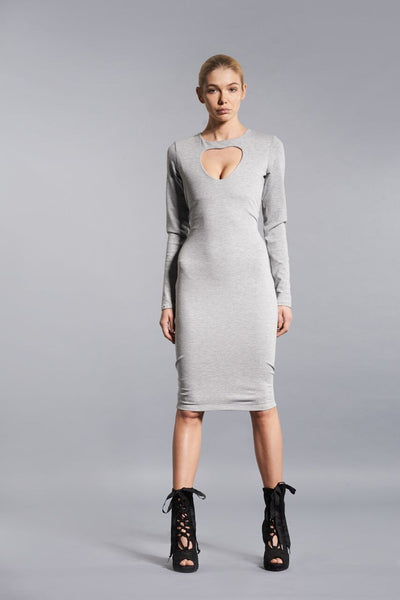 GREY HEART DRESS