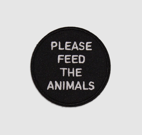 -Please Feed The Animals Velcro Hat Patch-