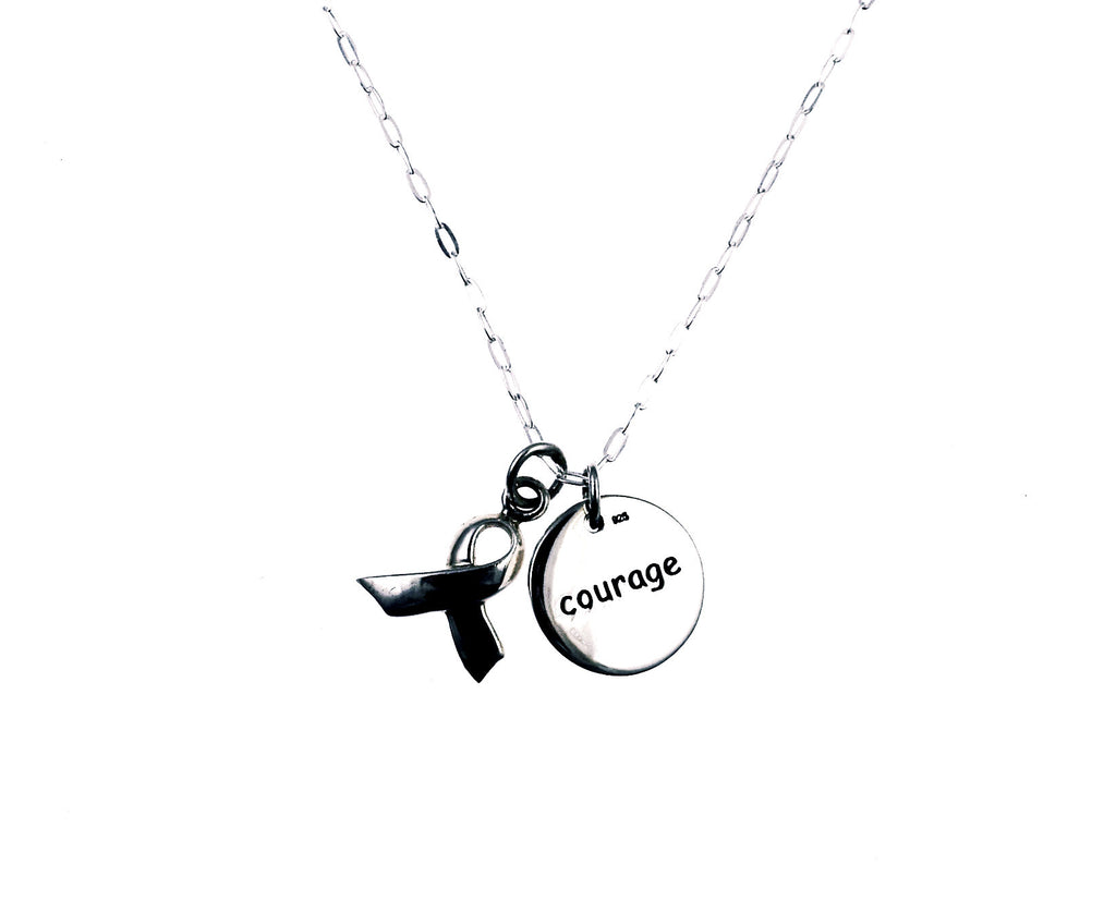 and ribbon product kind shop courage our be gold charm in plated have minimalist necklace card products