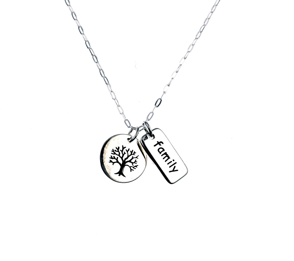 eb3108255 Sterling Silver Family Tree Necklace I Fab Fierce You, Inspirational ...