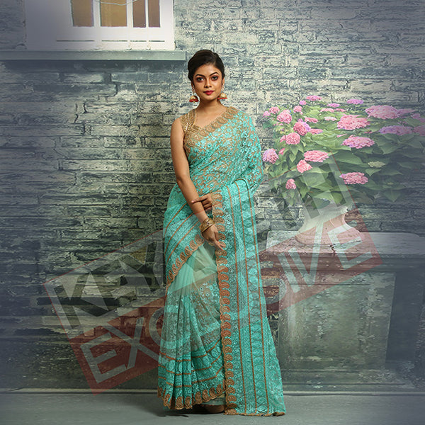 net designer saree for christmas & new year party