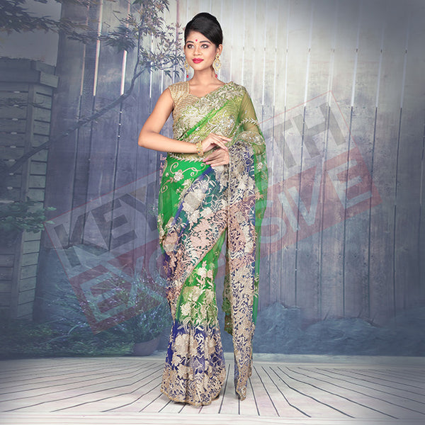 designer saree in net for party