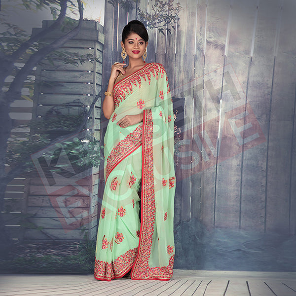 chiffon saree for new year party