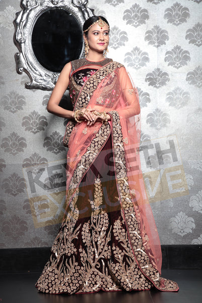 designer bridal lehenga, designer lehenga for wedding