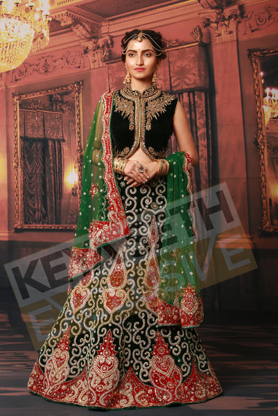 zardozi lehenga for bride, reception lehenga