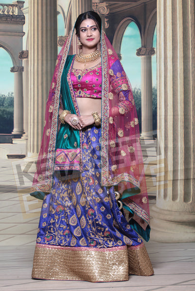 silk lehenga for wedding, bridal silk lehenga, silk lehenga for bride
