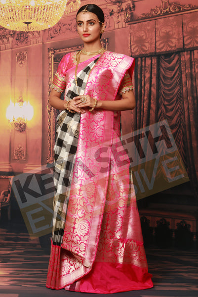 saree for reception, reception saree