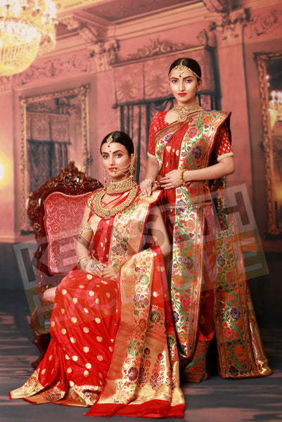 royal red benarasi for wedding