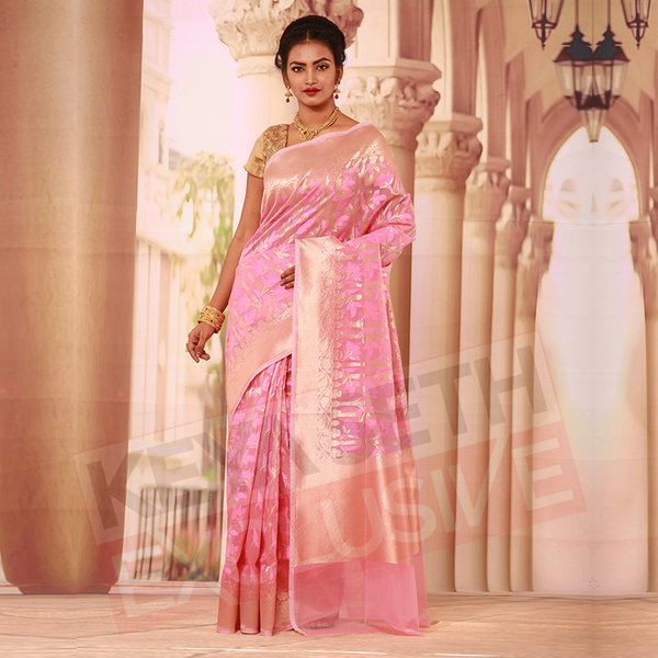 chanderi silk handloom saree