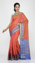 Load image into Gallery viewer, MINAKARI CHANDERI SILK SAREE WITH HIGHLIGHTED PRESLEY BORDER