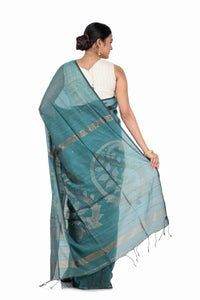 Linen Handloom Saree - Keya Seth Exclusive
