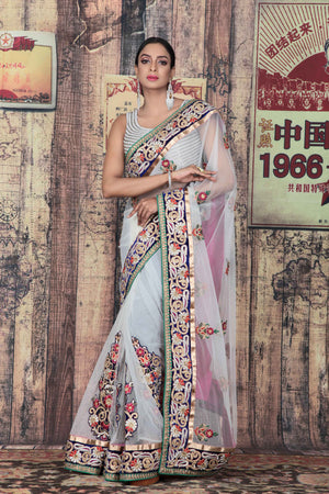 Designer Net Saree