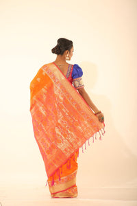 ORANGE COLOUR ARNI SILK SAREE