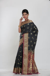 BLACK COLOUR ARNI SILK SAREE