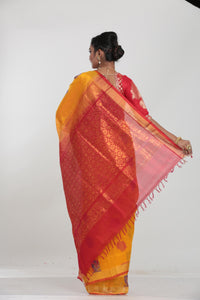 YELLOW COLOUR LIGHT WEIGHT SILK SAREE