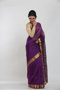 PURPLE COLOUR LIGHT WEIGHT SILK SAREE