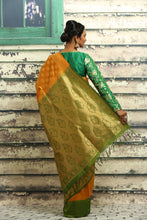 Load image into Gallery viewer, YELLOW COLOUR BUTA CHANDERI SILK SAREE
