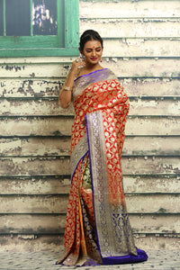 KATAN SILK BENARASI SAREE - Keya Seth Exclusive