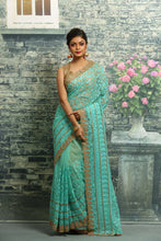 Load image into Gallery viewer, SKY COLOUR NET EMBROIDERED FNCY SAREE
