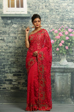 Load image into Gallery viewer, RANI COLOUR NET EMBROIDERED FANCY SAREE