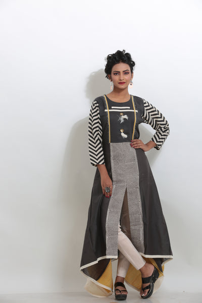 GREY COLOUR LONG KURTI