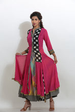 Load image into Gallery viewer, MULTICOLORED MULTILAYERED LONG INDO-WESTERN KURTI
