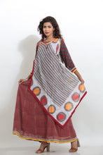 Load image into Gallery viewer, MULTICOLORED PRINTED LONG INDO-WESTERN KURTI