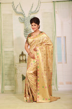 Load image into Gallery viewer, BEIGE COLOUR EPICAL KATAN SILK SAREE