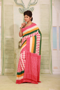 SAMBALPURI COTTON IKKAT SAREE - Keya Seth Exclusive