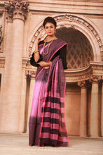 Load image into Gallery viewer, TWO COLOUR DYED COTTON HANDLOOM SAREE