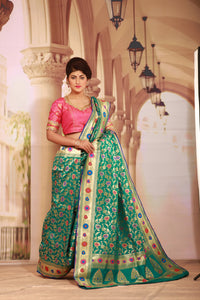 SEA GREEN COLOUR EPICAL KATAN SILK SAREE