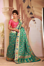 Load image into Gallery viewer, SEA GREEN COLOUR EPICAL KATAN SILK SAREE