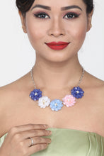 Load image into Gallery viewer, BEAUTIFUL PASTEL SHADE CRYSTAL FLORAL BEADS NECKLACE