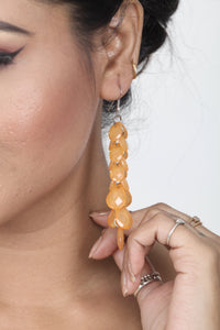 ORANGE COLOUR FANCY WESTERN EARRING